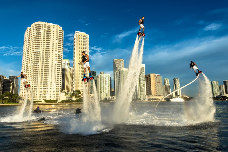 fly board miami on yacht