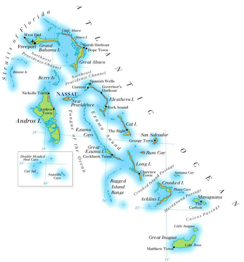 Vacation On Bahamas Islands - Where is the bahamas located