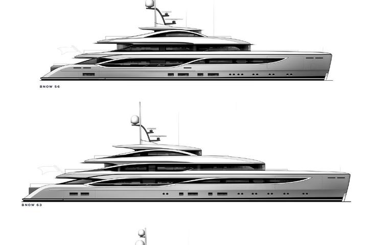 The new yachts BNow of Benetti