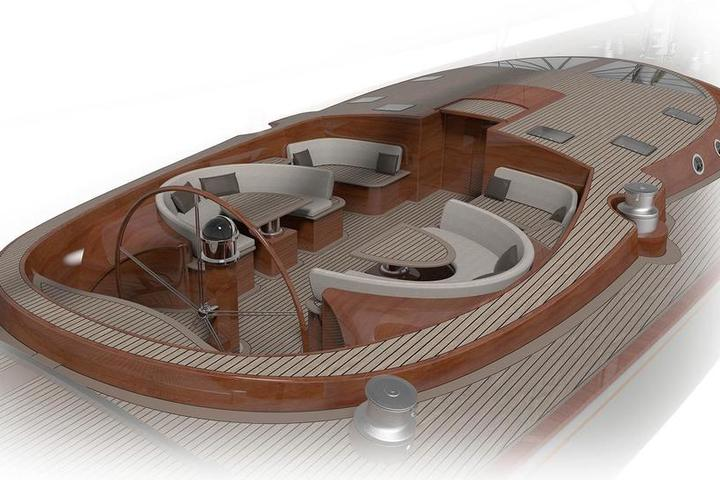 The Spirit111 is a wooden flagship of SpiritYachts