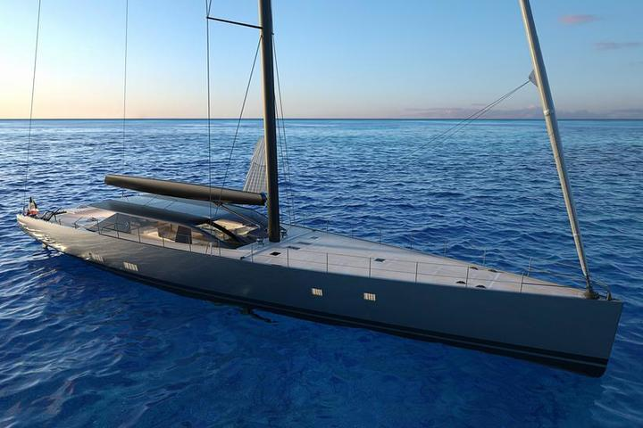 The 42-meter yacht E-volution