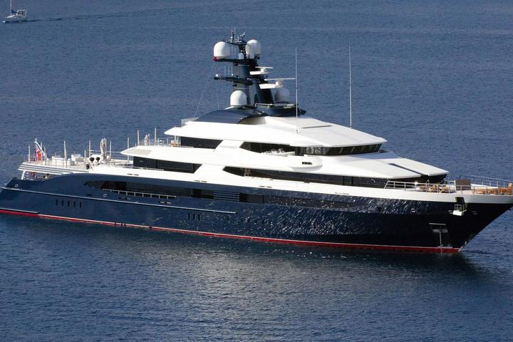 The 90-meter yacht Equanimity captured