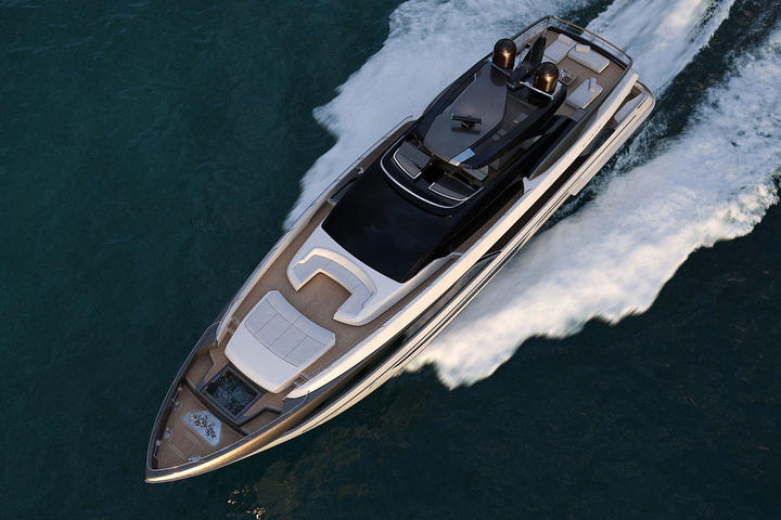 The first yacht of the series Riva 110 Dolcevita