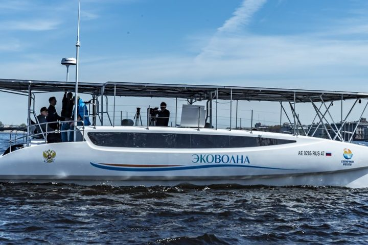 The eco-catamaran has left St.Petersburg for an expedition