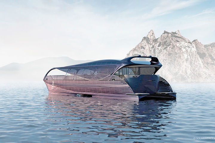A new solar-powered yacht by SolarImpact