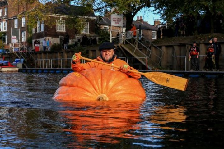 A new record on the pumpkin boat