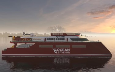 Eco-yacht Ocean Saviour saves the ocean from plastic waste