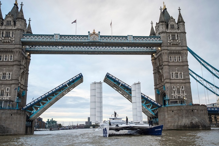 The world's first hydrogen catamaran arrived in London